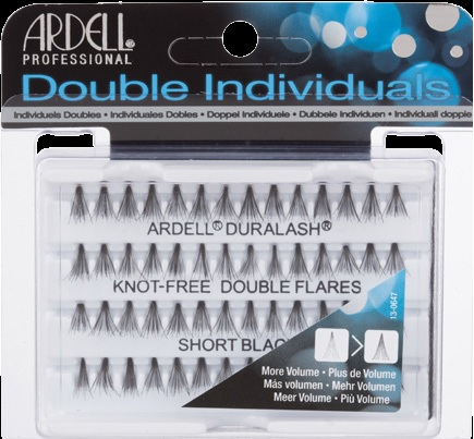 6e6a8b44f26 Ardell Duralash Natural Knot Free-Double Individuals Short Black-56 individual  lash clusters