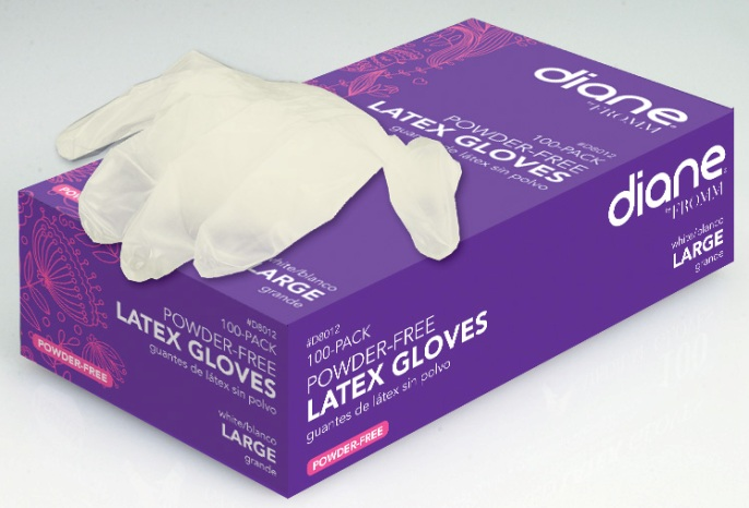 Powder Free Latex Gloves Large 100 Count