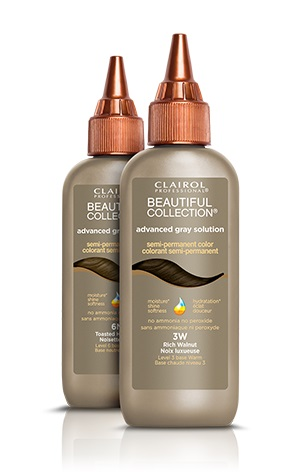 CLAIROL PROFESSIONAL BEAUTIFUL COLLECTION ADVANCE GRAY SOLUTION SEMI PERMANENT HAIR COLOR 3 oz