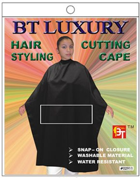 Hair Cutting Cape - Color Black