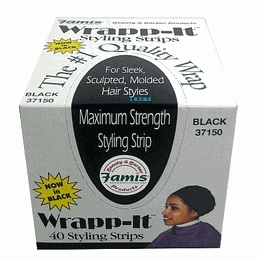 Wrapp-It Styling Strips - Black - 40 pcs/bx