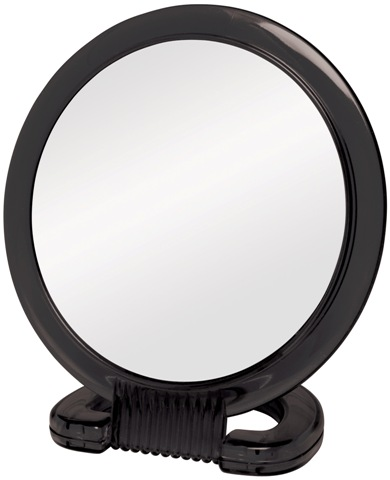 Plastic Handheld & Stand 2-Sided Mirror 6