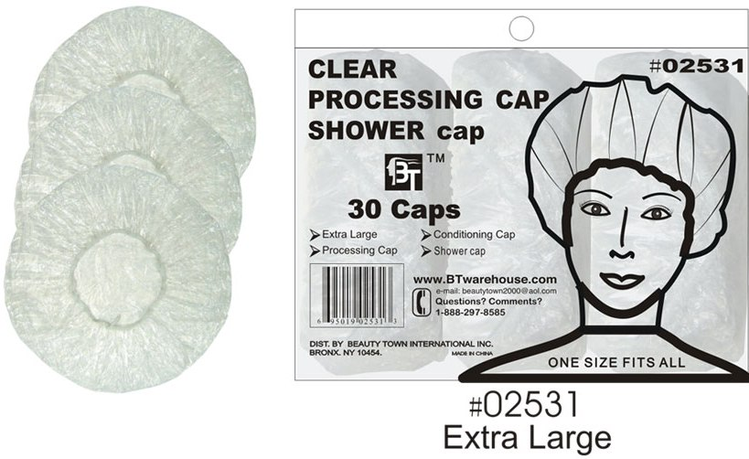 Clear Shower Cap - 30 Caps per pack