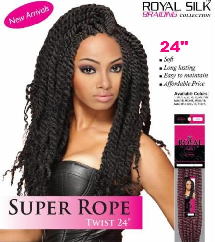 Super Rope Mambo Twist 24 Already Braided Royal Silk Collection