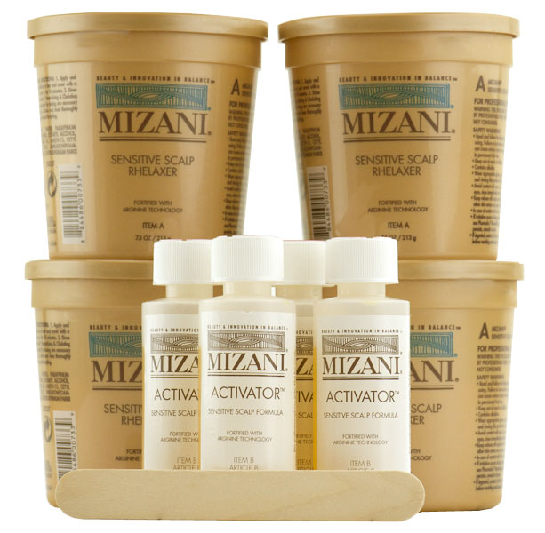 Mizani - Sensitive Scalp Relaxer ( Kit 7.5 oz 4 Packs)