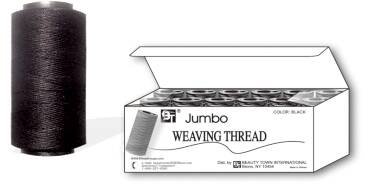 Jumbo Weaving Thread - Black - 12 Pcs