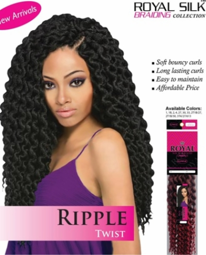 Ripple Twist Braid--Royal Silk Collection