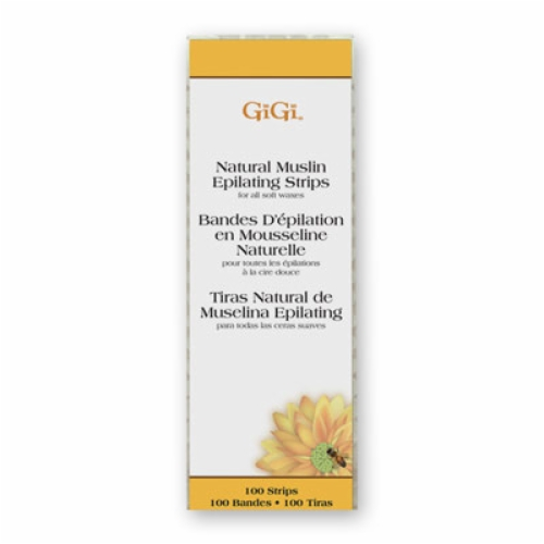 GIGI SMALL NATURAL MUSLIN STRIPS-Small 1.7