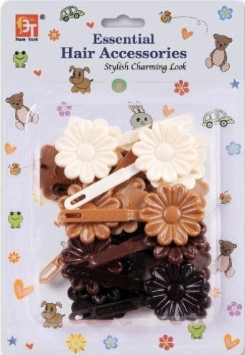 BARRETTES DAISY (BROWN ASSORTED)