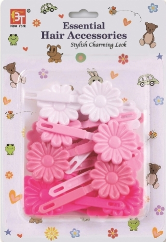 BARRETTES DAISY (PINK ASSORTED)