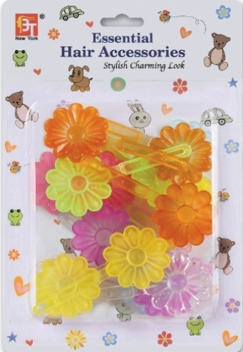 BARRETTES DAISY (CLEAR ASSORTED)
