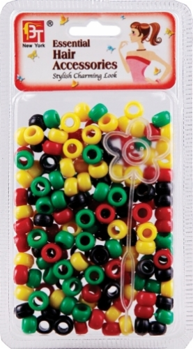 SMALL ROUND BEADS (AFRO ASSORTED)