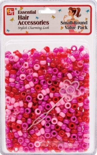 SMALL ROUND BEADS VALUE PACK (HOT PINK ASSORTED)