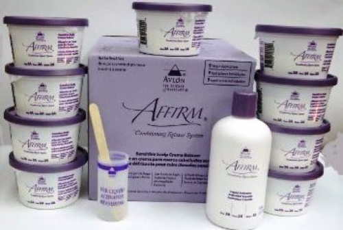 Affirm Creme Relaxer-Sensitive Scalp 9 Packs