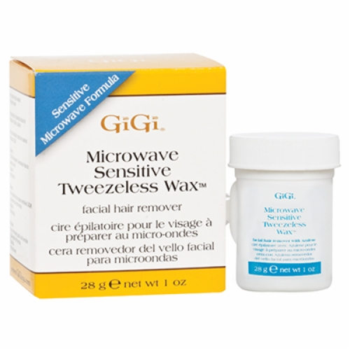 GIGI MICROWAVE SENSITIVE TWEEZELESS WAX-(Lip, Chin, Brow Wax)-1 oz
