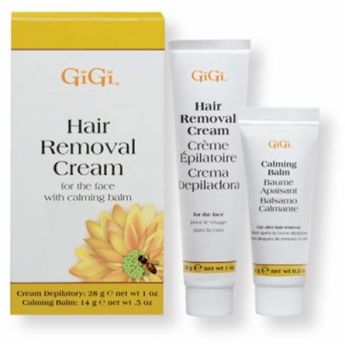 GIGI HAIR REMOVAL CREAM FOR THE FACE-(Lip, Chin, Brow Wax)-1 oz & 0.5 oz