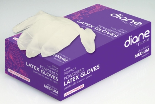 Latex Lightly Powdered Gloves Medium 100 Count