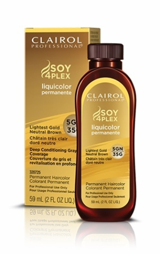 CLAIROL PROFESSIONAL SOY 4 PLEX LIQUICOLOR PERMANENTE HAIR COLOR 2 oz