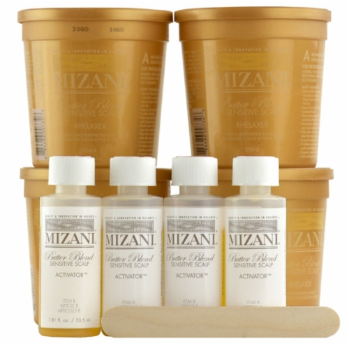 Mizani - Butter Blend Sensitive Scalp Relaxer ( Kit 7.5 oz 4 Packs)