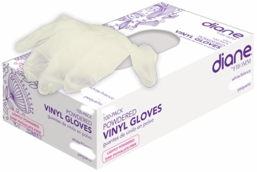 Vinyl Lightly Powdered-Gloves Small 100 Count