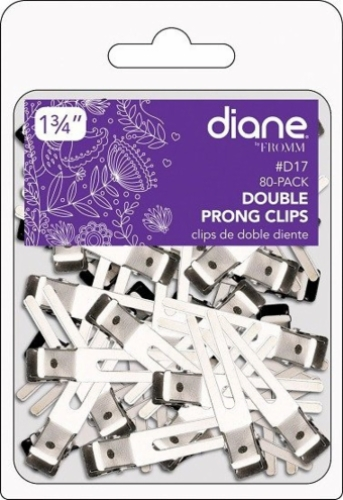 Double Prong Clips 1.75 inch 80 Pack
