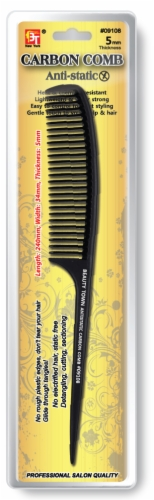 Wide Teeth Tail Comb -Heat& Chemical Resistant Antistatic Carbon Comb