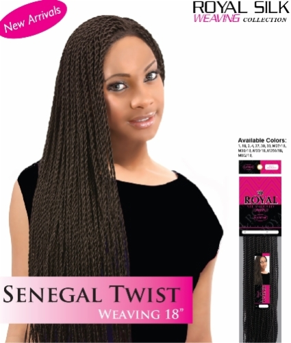 Senegal Twist Weaving 18 inch-Royal Silk Collection