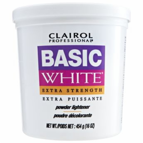 CLAIROL BASIC WHITE POWDER LIGHTENER - EXTRA STRENGTH  16 OZ (1 LBS)
