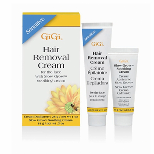 GIGI SENSITIVE HAIR REMOVAL CREAM FOR THE FACE-(Lip, Chin, Brow Wax)-1 oz & 0.5 oz