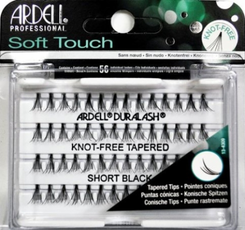 53efca9b51e Ardell Soft Touch Individuals-Knot-Free Tapered Short Black-56 individual  lash clusters