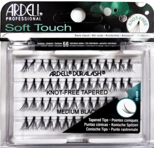 54037937a58 Ardell Soft Touch Individuals-Knot-Free Tapered Medium Black-56 individual  lash clusters